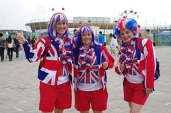 British Olympic team supporters Stock Photography