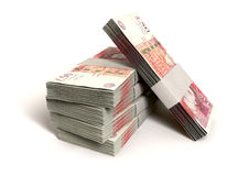 British One Hundred Pound Notes Bundles Royalty Free Stock Photos