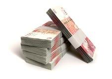 British One Hundred Pound Notes Bundles vector illustration