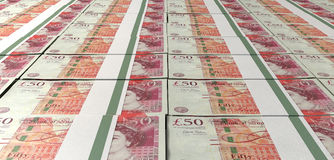 British One Hundred Pound Notes Laid Out Stock Photography