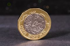 British One Pound Coin Royalty Free Stock Image
