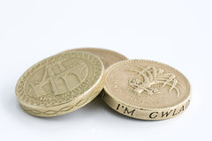 British one pound coins Royalty Free Stock Photos