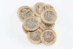 British one pound coins Stock Images