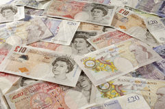 British Paper Currency Royalty Free Stock Photos