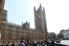 The british parlament in london. In uk at day time Royalty Free Stock Images