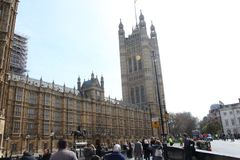 The british parlament in london. In uk at day time