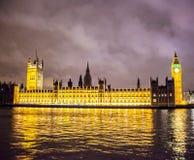 British parliament. And Big Ben building at night Royalty Free Stock Image