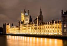 British parliament. And Big Ben building at night Royalty Free Stock Photo