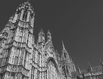 British`s Parliament London. British Parliament in a black and with contrast Royalty Free Stock Image