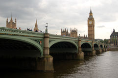 The British Parliament Building and Big Ben Stock Photography