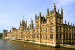 British Parliament Buildings Royalty Free Stock Images