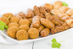 British Party Food Selection Royalty Free Stock Image