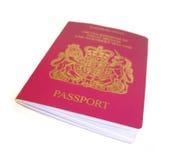 British passport. Isolated on a white background stock image