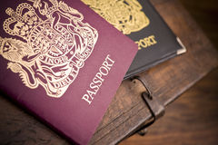 British passport. United Kingdom passport front cover view royalty free stock photography