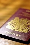 British passport. On wood surface Stock Photography
