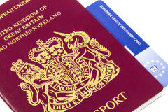 British Passport with E111 EHIC Royalty Free Stock Photos