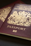 British Passport. S  issued by the United Kingdom government for travel and identification Stock Photo