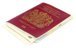 British passport with some documents Stock Photography