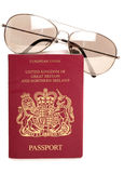 British passport and sunglasses Royalty Free Stock Photography