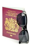 British passport and sunglasses Stock Image