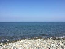 Uk Stone beach. British pebble stone beach in the uk Sea Royalty Free Stock Photos