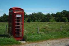 British phone. An typical and isolated british phone Stock Photography