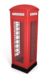 British phone booth. Traditional red british phonebooth. High quality 3D rendered image Stock Photos