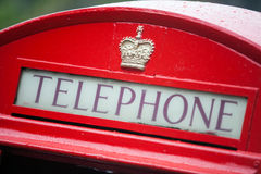 British phone booth. Color image of a vintage red London telephone booth Stock Image