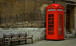 British, Phone Booth Royalty Free Stock Photos