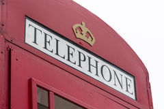 British Phone Booth. Traditional english red phone booth Stock Image
