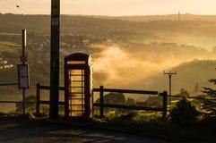 British phone box and fields. Stock Images