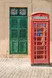British phone box in Malta Royalty Free Stock Photos