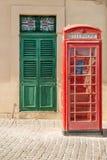 British phone box in Malta royalty free stock photos
