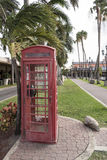 British Phone box in Oranjestad Aruba Stock Photo