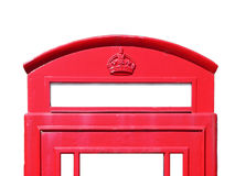 British phone box, red and white, detail Stock Photos