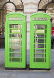 British phone goes in the City of London, Stock Photography