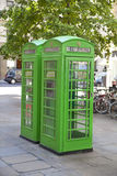 British phone goes in the City of London, Stock Image