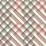 British Plaid Ornament. Abstract Diagonal Thin Line Art Patter Stock Photography