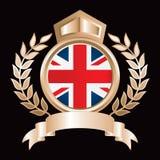 british pokazu flaga złoto królewski ilustracja wektor