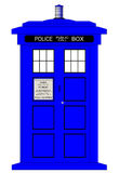 British Police Box. A typical british police box isolated over a white background royalty free illustration