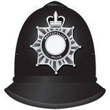 British Police Officers Helmet Stock Images