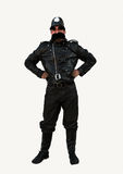 British Policeman costume. Young man in British Policeman costume stock photos