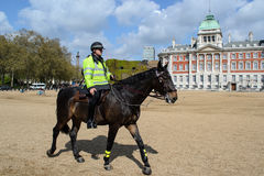 British policeman on horseback Royalty Free Stock Image
