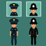 British policeman uniform, Stock Images