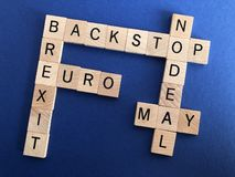 British Politics, concept of Brexit and leaving the European Union royalty free stock photography