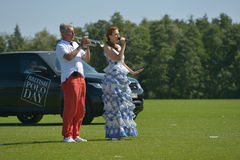 British Polo Day in Moscow Royalty Free Stock Photos