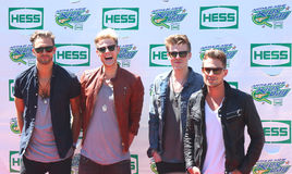British pop rock band Lawson attends the Arthur Ashe Kids Day 2013 at Billie Jean King National Tennis Center Stock Photos