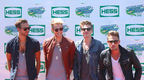 British pop rock band Lawson attends the Arthur Ashe Kids Day 2013 at Billie Jean King National Tennis Center Royalty Free Stock Image