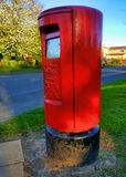 Iconic British Red Post Box stock images
