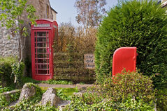 British Post Box and telephone box Royalty Free Stock Image
